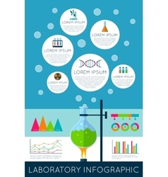 Laboratory infographics vector