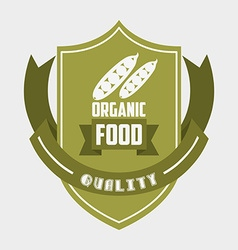 Organic and fresh product design vector