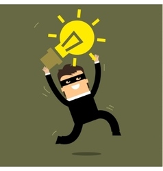 Thief stealing idea vector