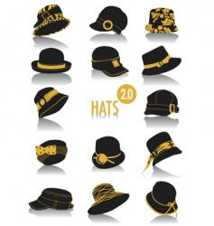 Hats silhouettes vector