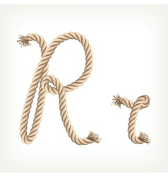 Rope alphabet Letter R vector image