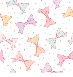 Colorful bows seamless pattern vector