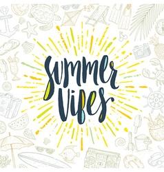 Summer holidays greeting card vector image