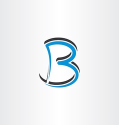 blue black logo logotype letter b symbol vector image vector image