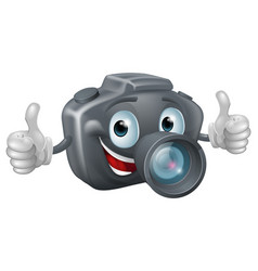 Cartoon camera mascot vector