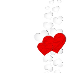 Crumpled paper hearts for Valentines day vector image vector image