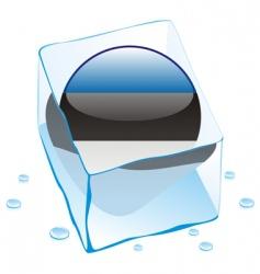 frozen button flag of estonia vector image vector image