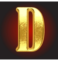 golden letter on red vector image vector image