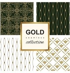 Golden line pattern set vector