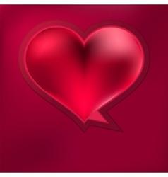 Heart speech bubble EPS8 vector image vector image