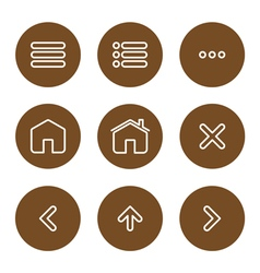 Icon navigation vector image