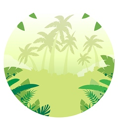 Jungle Flat Background15 vector image vector image