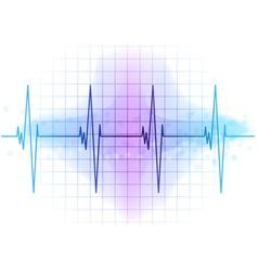 Light blue heart beat diagram vector