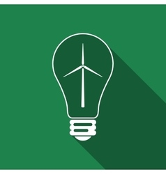Light bulb with a wind turbines as idea of eco vector