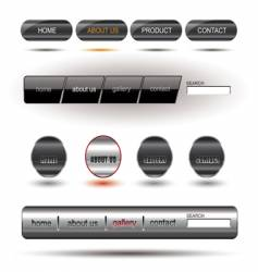metallic editable website buttons vector image