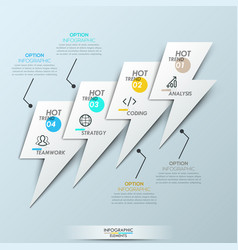 modern infographic design template - 4 overlapping vector image
