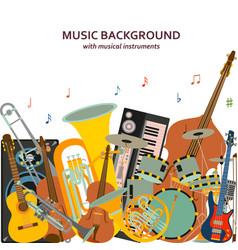 Music background made of different musical vector