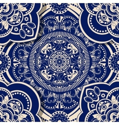 Ornamental seamless pattern with shadow effect vector