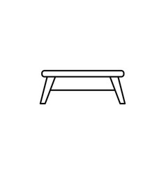 playground table icon vector image vector image