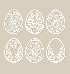 Set stencil easter eggs vector