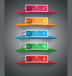 shelf pin clip paper - business infographic vector image vector image