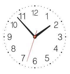 Simple classic clock isolated on white background vector image