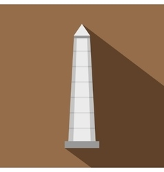The obelisk of buenos aires icon flat style vector