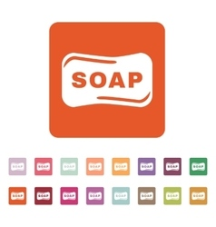 The soap icon Soap symbol Flat vector image vector image