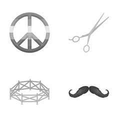 Theater show business and other monochrome icon vector
