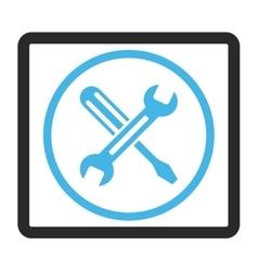 Tuning framed icon vector