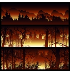 Wildfire background vector image vector image