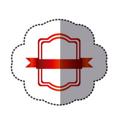 red square emblem icon vector image