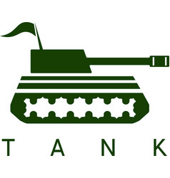 Abstract design template of tank with flag vector