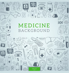 Medicine icons and text vector