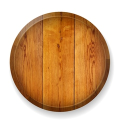 Realistic wooden round board vector image