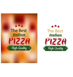 Best italian pizza poster vector