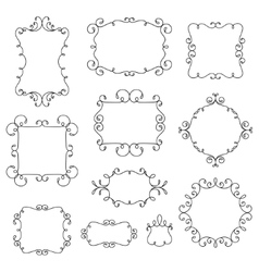 Ornamental decorative frames with swirls vector