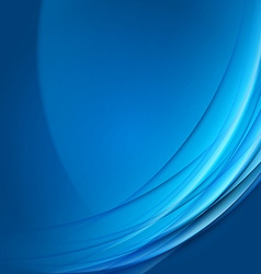Abstract blue futuristic wave background vector