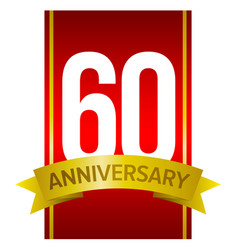 60 anniversary - label for celebration vector