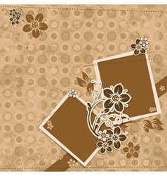 Template scrap card eps10 vector
