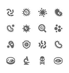 Bacteria icons vector