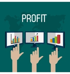 Profit graphics vector