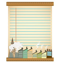 Paper design with factories vector