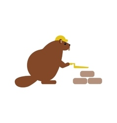 Flat icon on white background beaver builder vector
