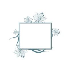 Vintage Lily Flower Frame vector image