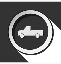 Icon - car with shadow vector