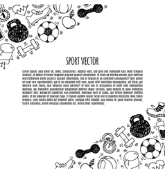 Sport banner white and black vector