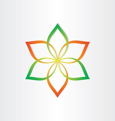 Abstract flower icon design element vector
