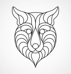 Abstract Fox Logo vector image vector image