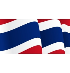 Background with waving thai flag vector